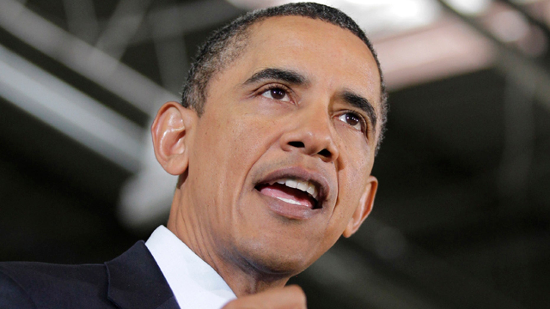 Jan. 7: President Obama talks about the latest reports showing a decline in the unemployment rate as he highlights his economic policies in a speech on the factory floor of the Thompson Creek Window Company in Landover, Md.