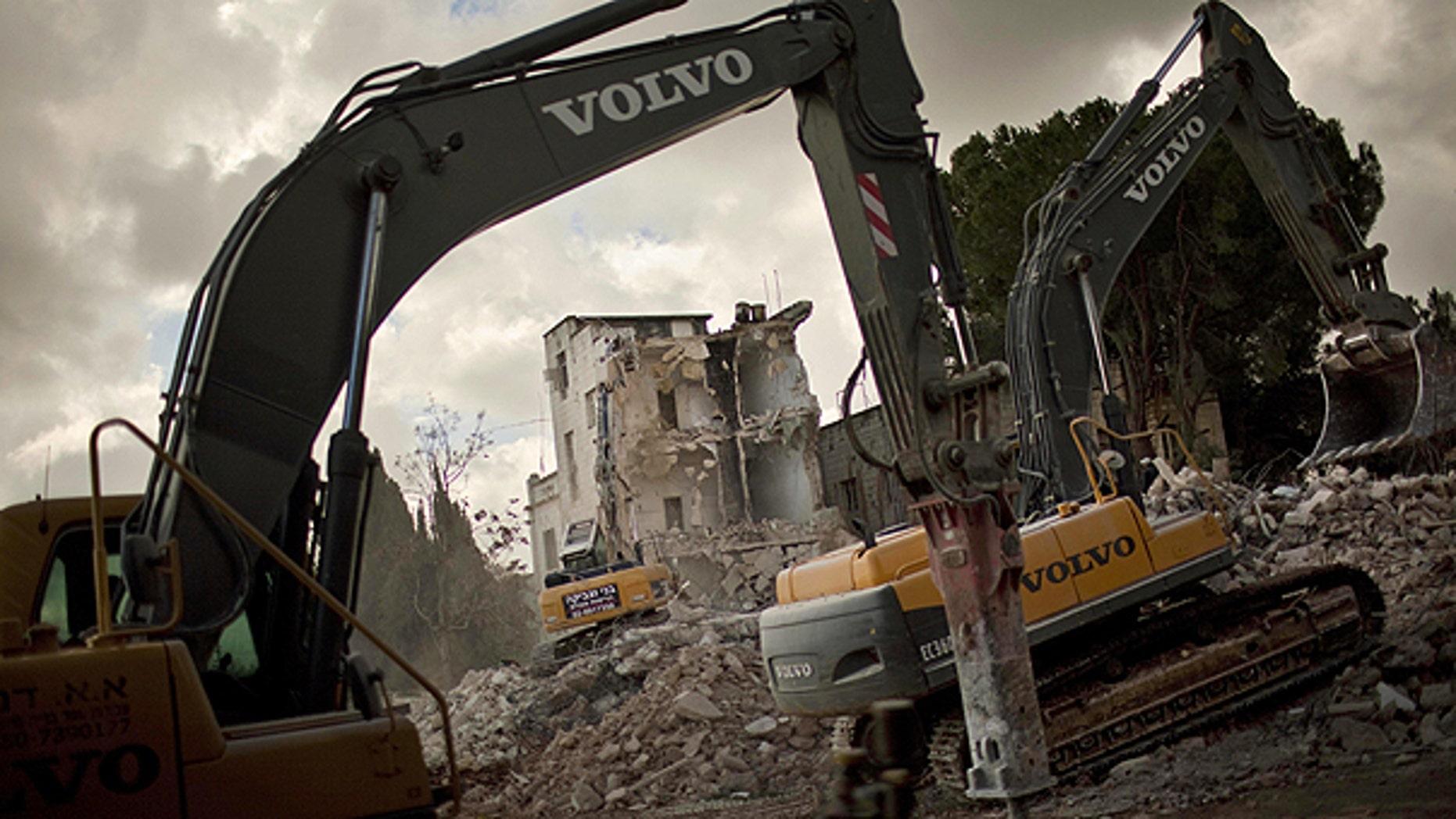 Jan. 9: Israeli bulldozers demolish the Shepherd Hotel in the east Jerusalem neighborhood of Sheik Jarrah.