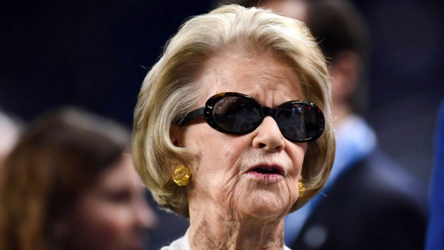 Oct 18, 2015; Detroit, MI, USA; Detroit Lions owner Martha Ford before the game against the Chicago Bears at Ford Field. Mandatory Credit: Tim Fuller-USA TODAY Sports