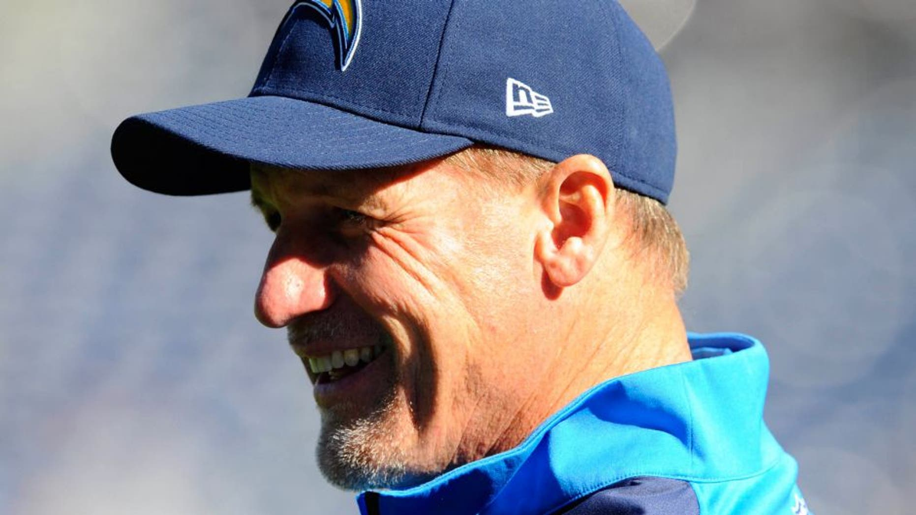 Dec 22, 2013; San Diego, CA, USA; San Diego Chargers offensive coordinator Ken Whisenhunt prior to the game against the Oakland Raiders at Qualcomm Stadium. Mandatory Credit: Christopher Hanewinckel-USA TODAY Sports