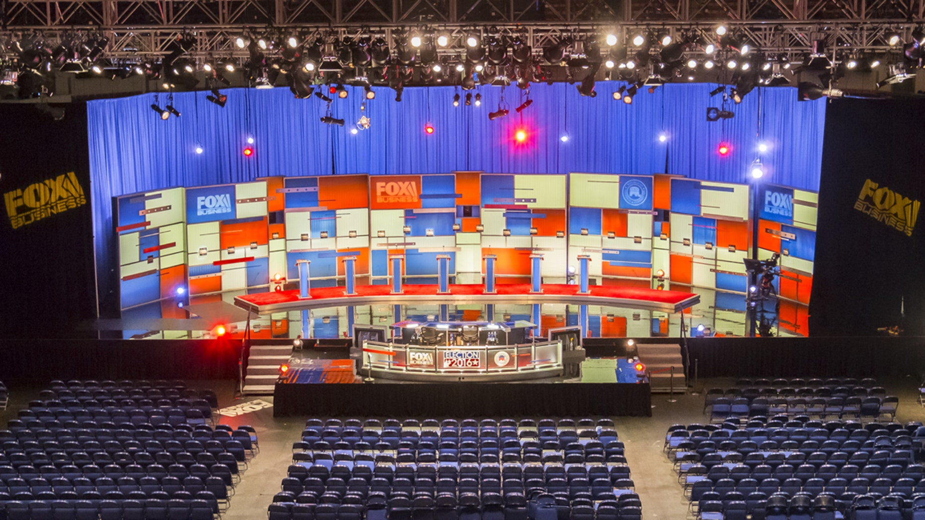 The stage is set for the Fox Business 2016 Republican presidential primary debate in North Charleston, S.C.