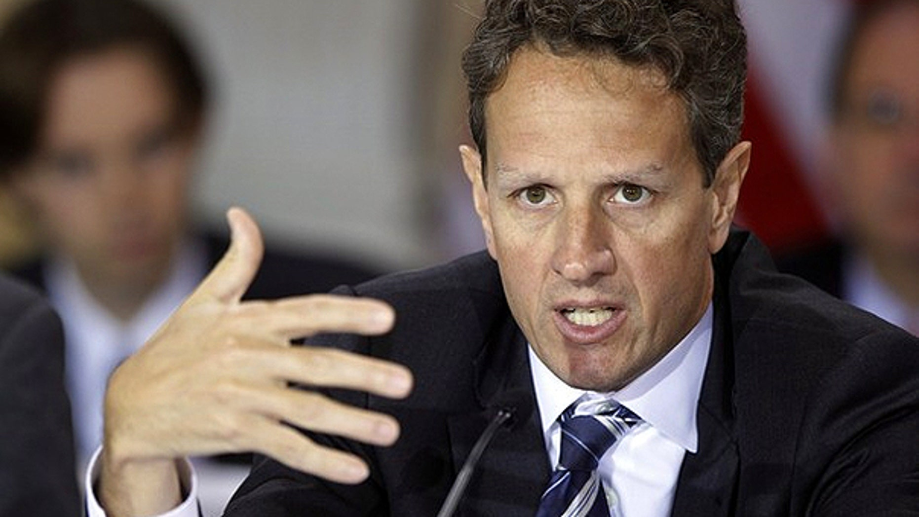Nov. 23: U.S. Treasury Secretary Tim Geithner speaks at the financial stability oversight council (FSOC) meeting at the Treasury Department in Washington.