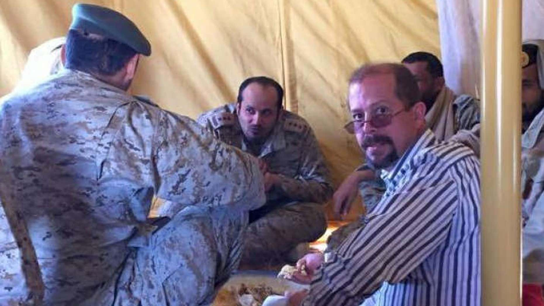 US defense contract worker Chris Cramer in a picture taken just days before his body was found outside his hotel in Tabuk, Saudi Arabia.