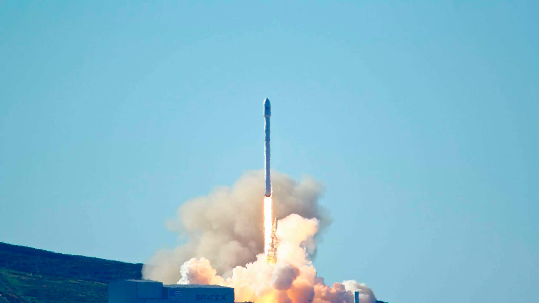 Jan. 14, 2017: Space-X's Falcon 9 rocket with 10 satellites launches at Vandenberg Air Force Base, Calif.