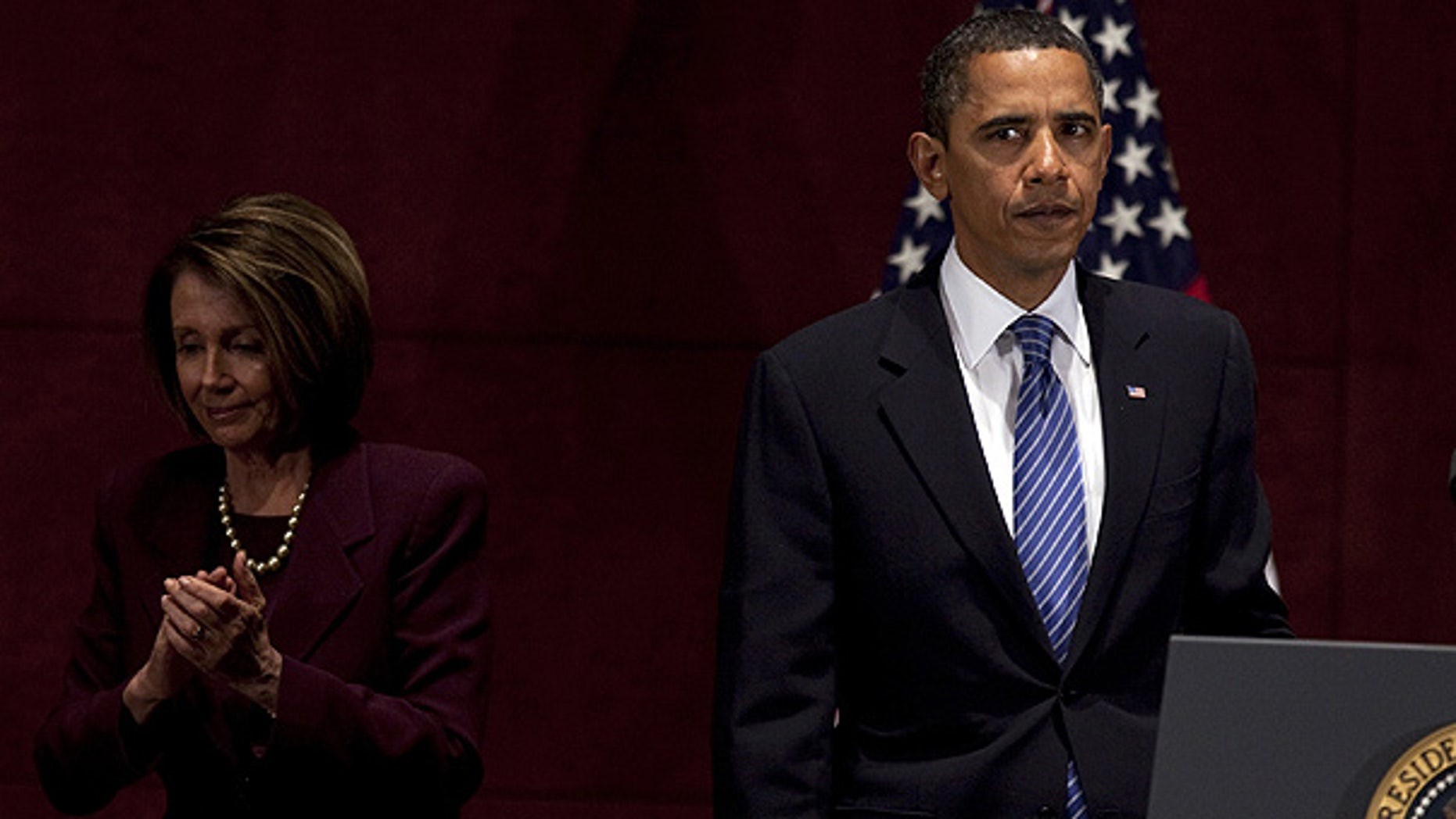 Jan. 15: President Obama with Speaker of the House Nancy Pelosi at the U.S. Capitol. (AP)