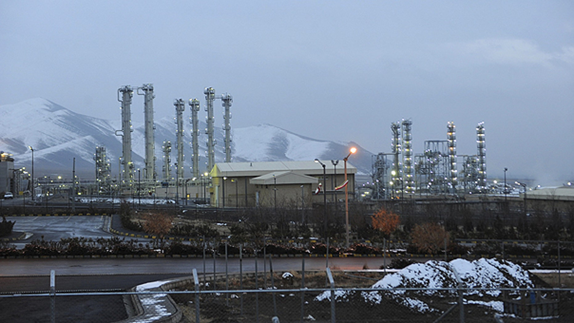 Jan. 15: A view of Iran's heavy water nuclear facilities is seen, near the central city of Arak.