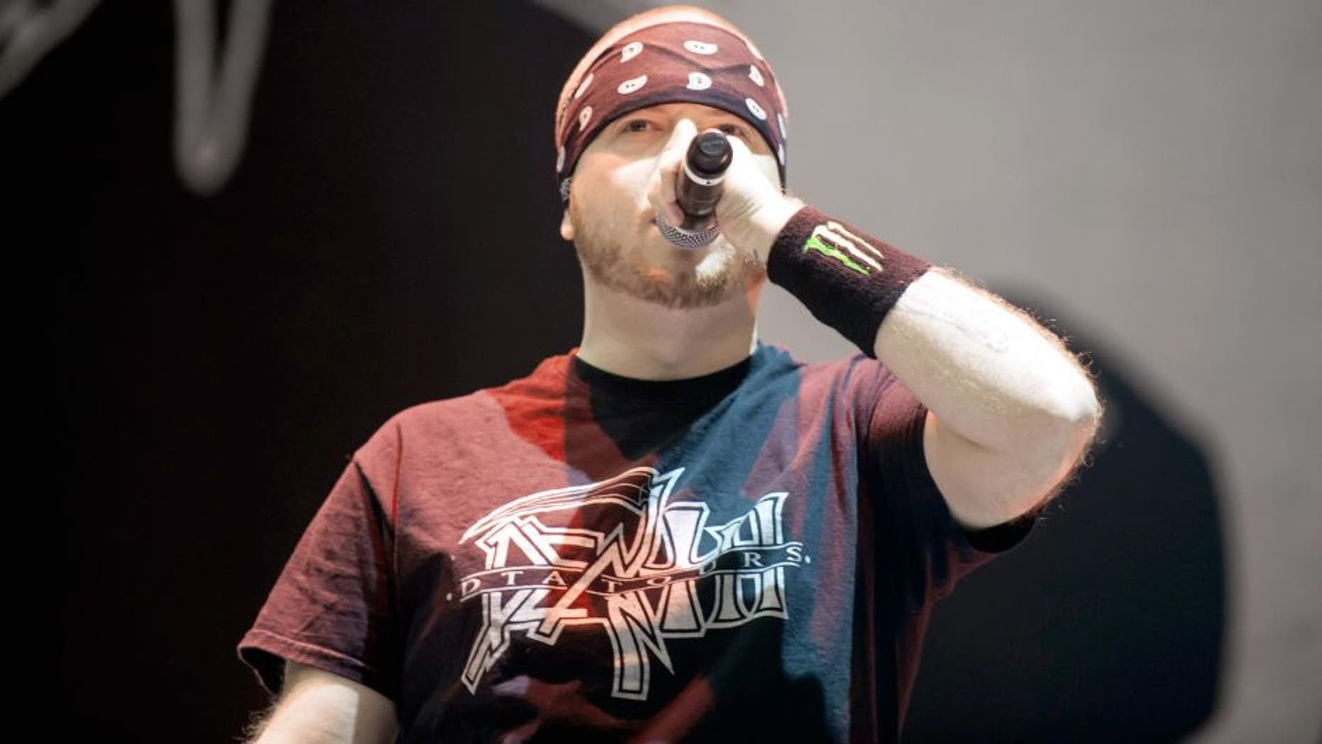 GELSENKIRCHEN, GERMANY - MAY 29: Jamey Jasta of Hatebreed performs on stage at the Veltins-Arena on May 29, 2015 in Gelsenkirchen, Germany. (Photo by Marc Pfitzenreuter/Redferns via Getty Images)