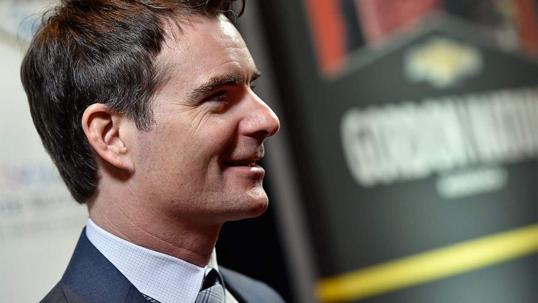 LAS VEGAS, NV - DECEMBER 03: NASCAR Sprint Cup Series driver Jeff Gordon looks on during media availability following the 2015 NASCAR NMPA Myers Brothers Awards Luncheon at Encore Las Vegas on December 3, 2015 in Las Vegas, Nevada. (Photo by David Becker/NASCAR via Getty Images)