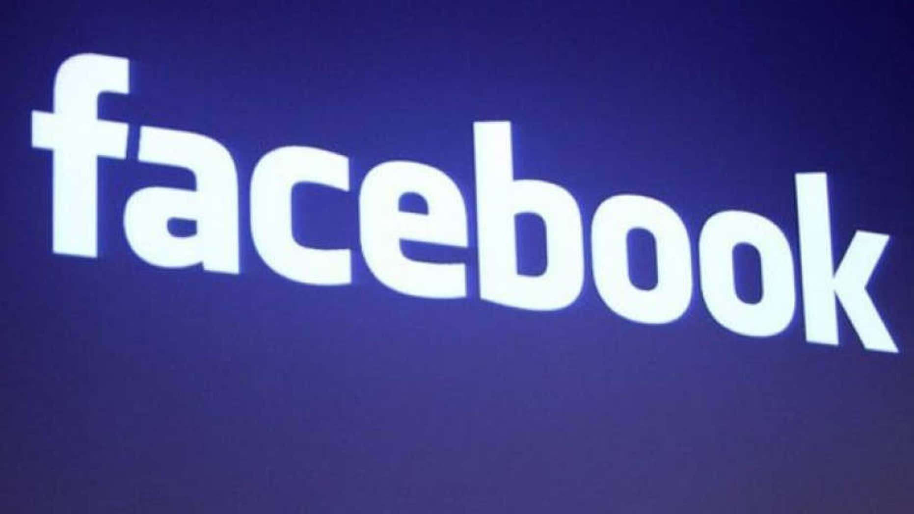 The Facebook logo is shown at Facebook headquarters in Palo Alto, California, in this May 26, 2010 file photo.