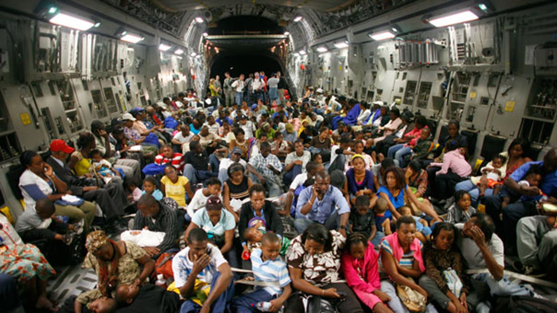 Sunday: The C-17 Globemaster from McChord Air Force Base participated in a massive airlift of personnel and relief supplies into earthquake-damaged Haiti. It then took evacuees to Orlando, Florida. (AP)
