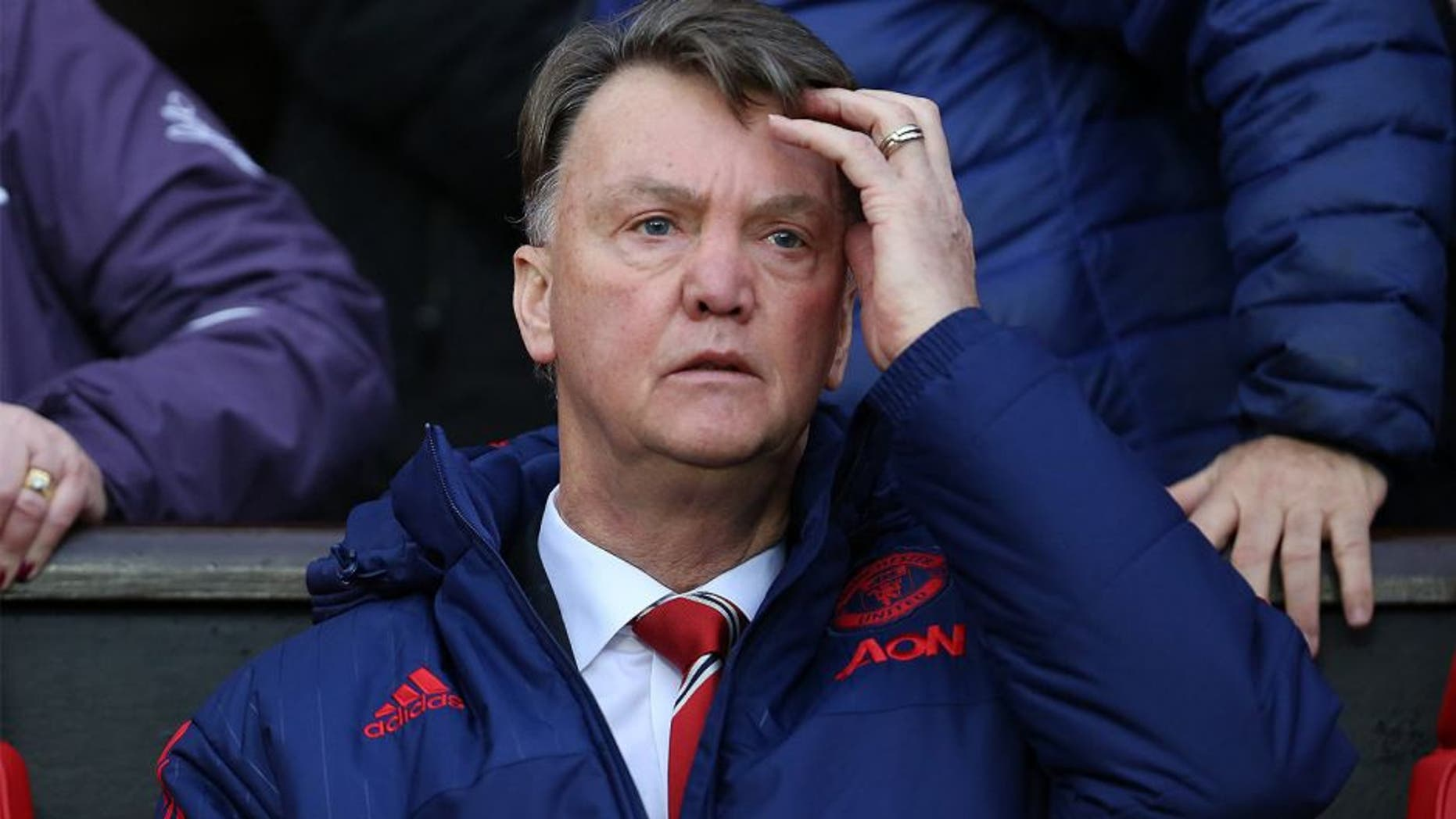 MANCHESTER, ENGLAND - JANUARY 02: Louis van Gaal manager of Manchester United during the Barclays Premier League match between Manchester United and Swansea City at Old Trafford on January 2, 2016 in Manchester, England. (Photo by James Baylis - AMA/Getty Images)