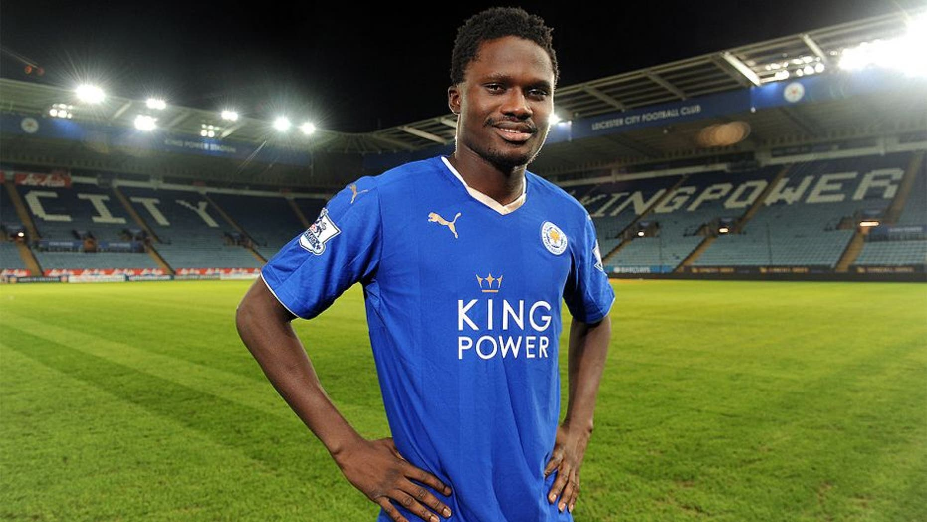 LEICESTER, ENGLAND - JANUARY 21: Leicester City unveil New Signing Daniel Amartey at King Power Stadium on January 21, 2016 in Leicester, United Kingdom. (Photo by Plumb Images/Leicester City FC via Getty Images)