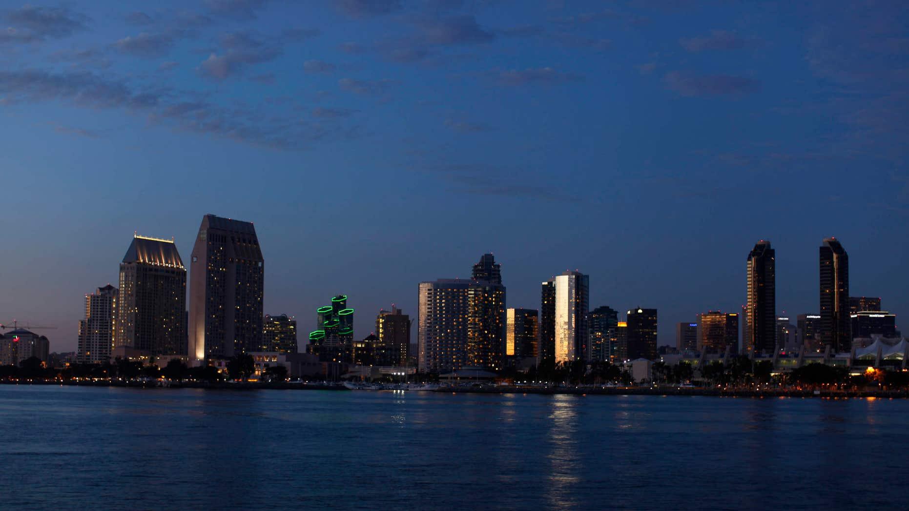 The skyline of San Diego, Calif.
