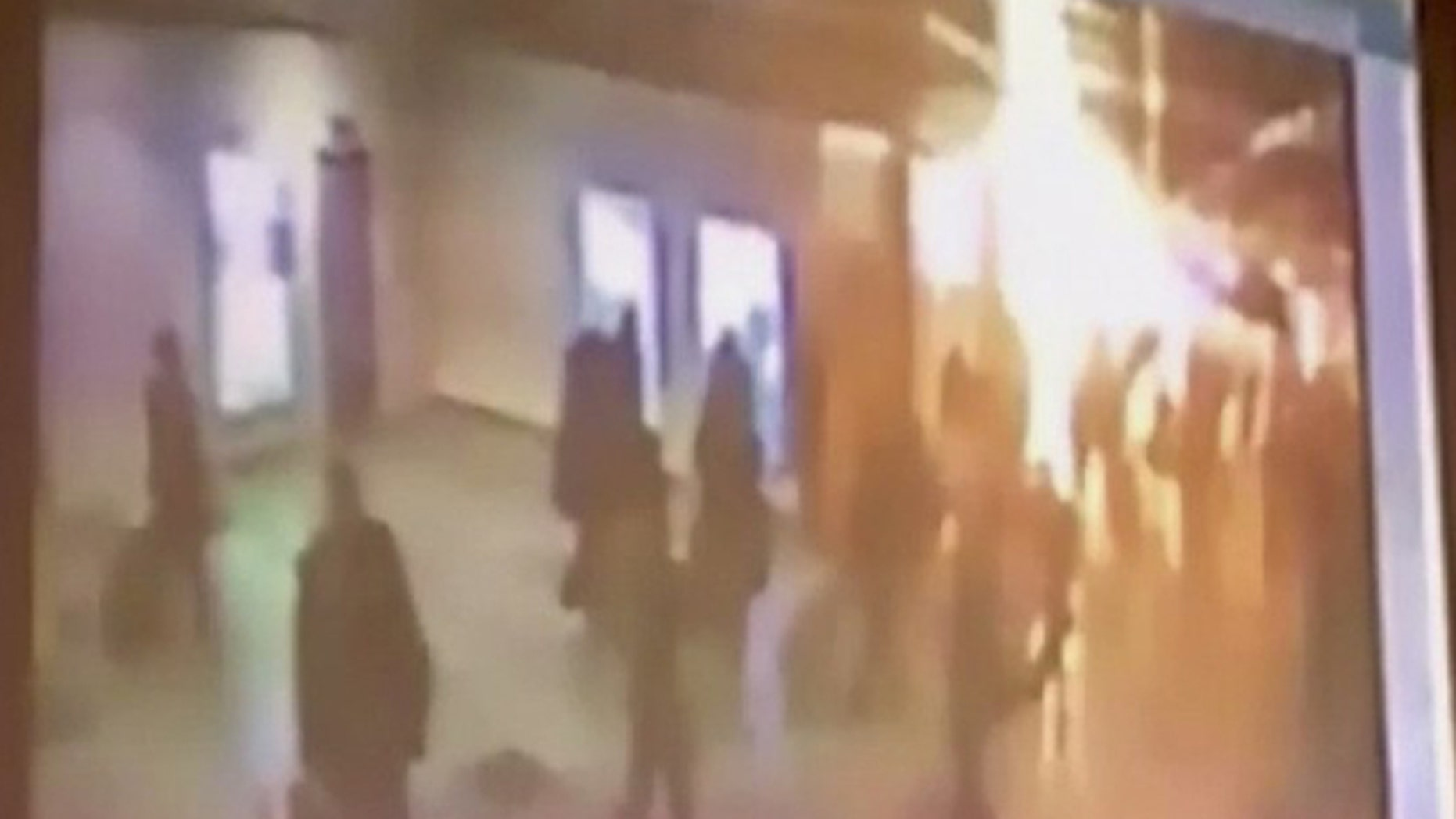 Jan. 24: A still image taken from a CCTV footage shows an explosion at Moscow's Domodedovo airport.