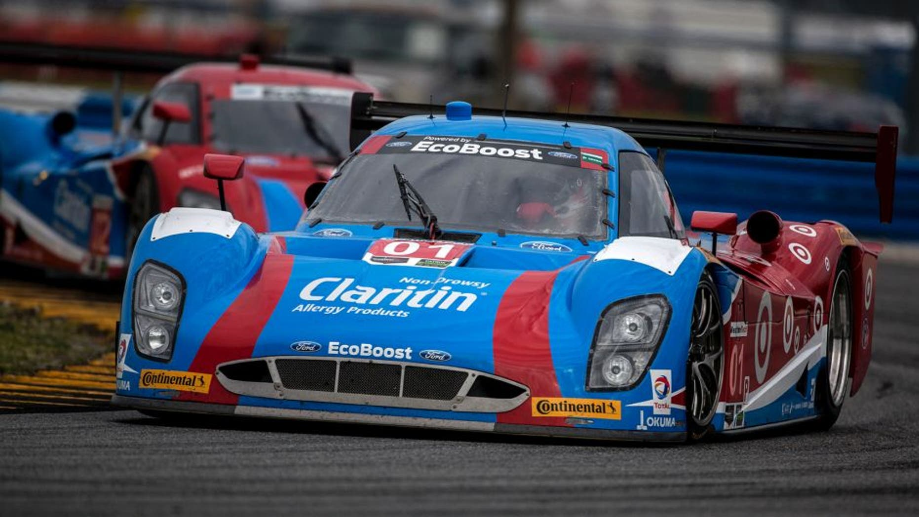 DAYTONA BEACH, FL - JANUARY 10: The #01 Ford Riley of Lance Stroll, Brendan Hartley, Alex Wurz and Andy Priaulx drives on the track during the Roar Before the 24 IMSA WeatherTech Series testing at Daytona International Speedway on January 10, 2016 in Daytona Beach, Florida. (Photo by Brian Cleary/Getty Images)