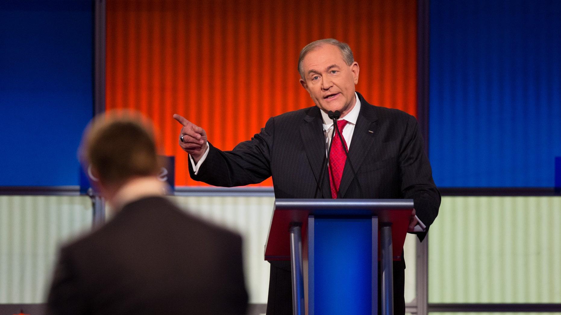 The Fox News republican debate Thursday, Jan. 28, 2016, at the Iowa Events Center in Des Moines, Iowa. Scott Morgan/Fox News