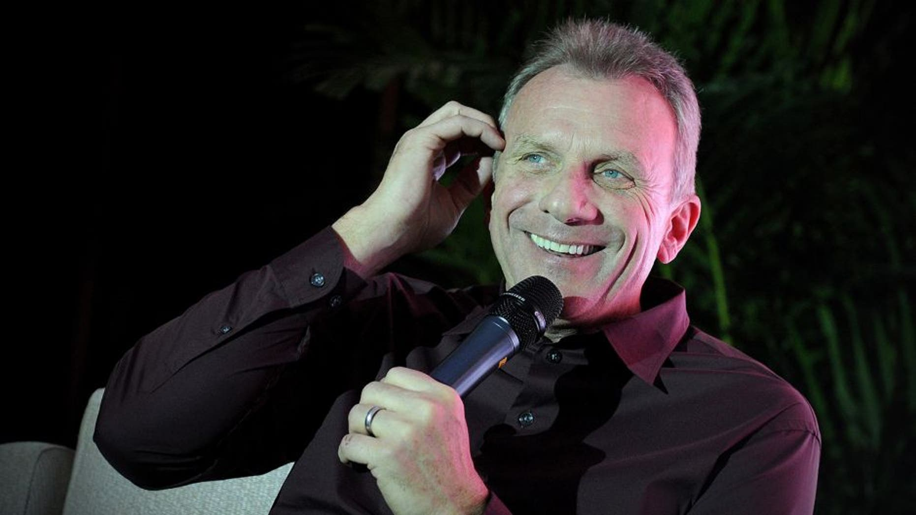 US National Football League (NFL) former quarterback Joe Montana speaks at a conference in Beijing on November 18, 2013. Joe Montana is on a visit to China from November13 to 19. AFP PHOTO / WANG ZHAO (Photo credit should read WANG ZHAO/AFP/Getty Images)