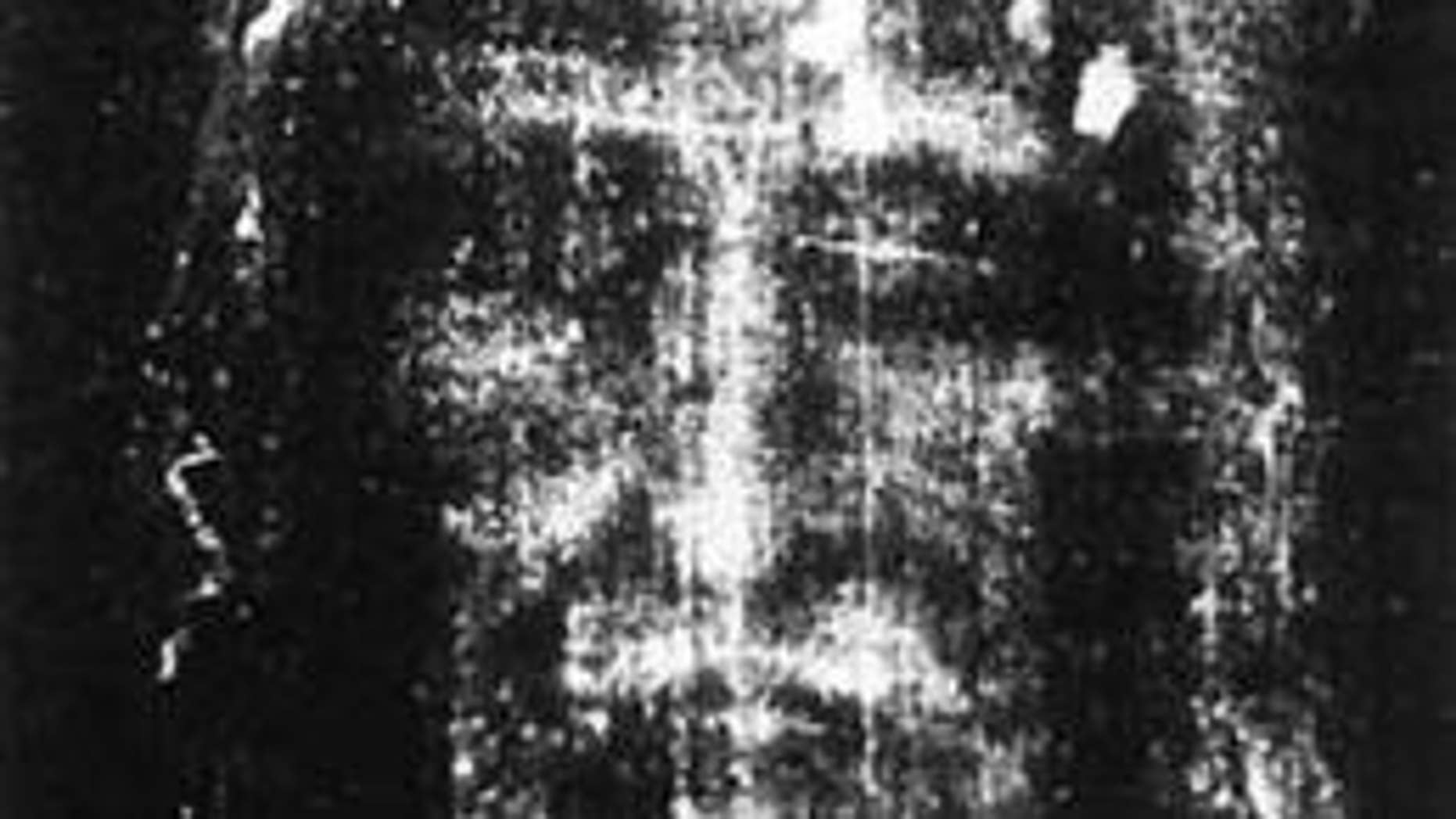 The Shroud of Turin, the reputed burial shroud of Jesus.