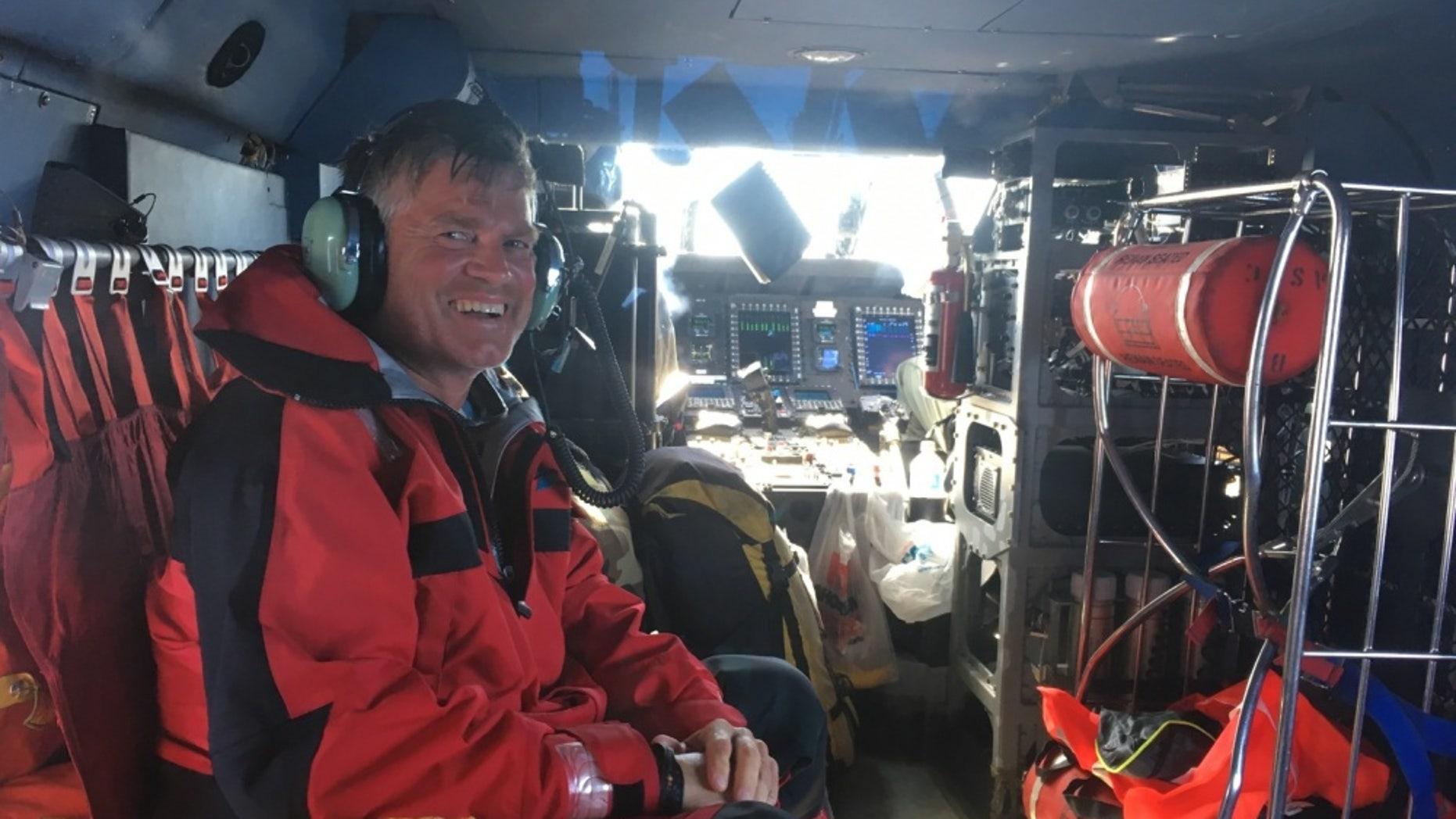Wolfgang Sloma was rescued Sunday morning.