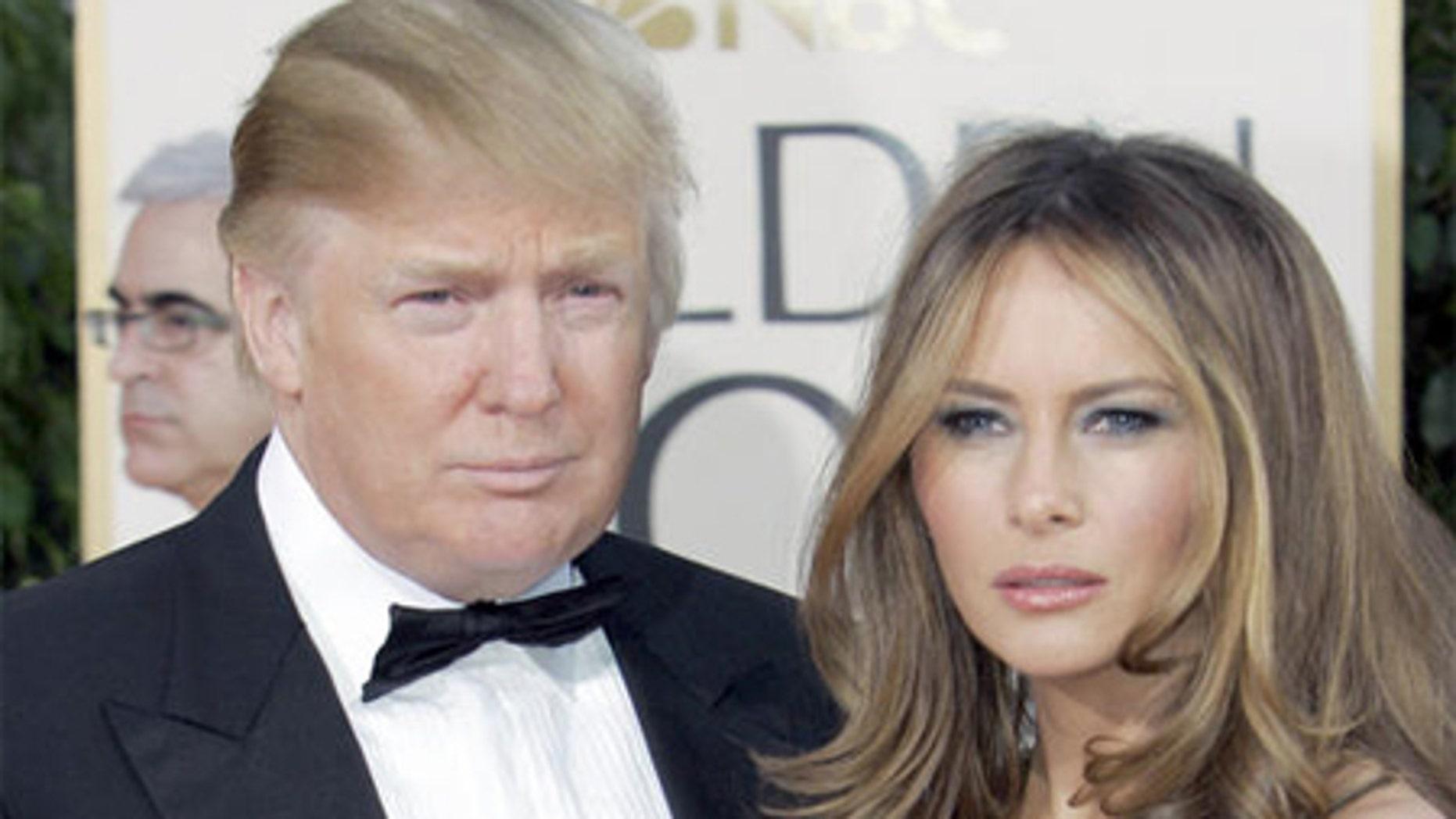 Donald Trump, left, and his wife Melania Trump.