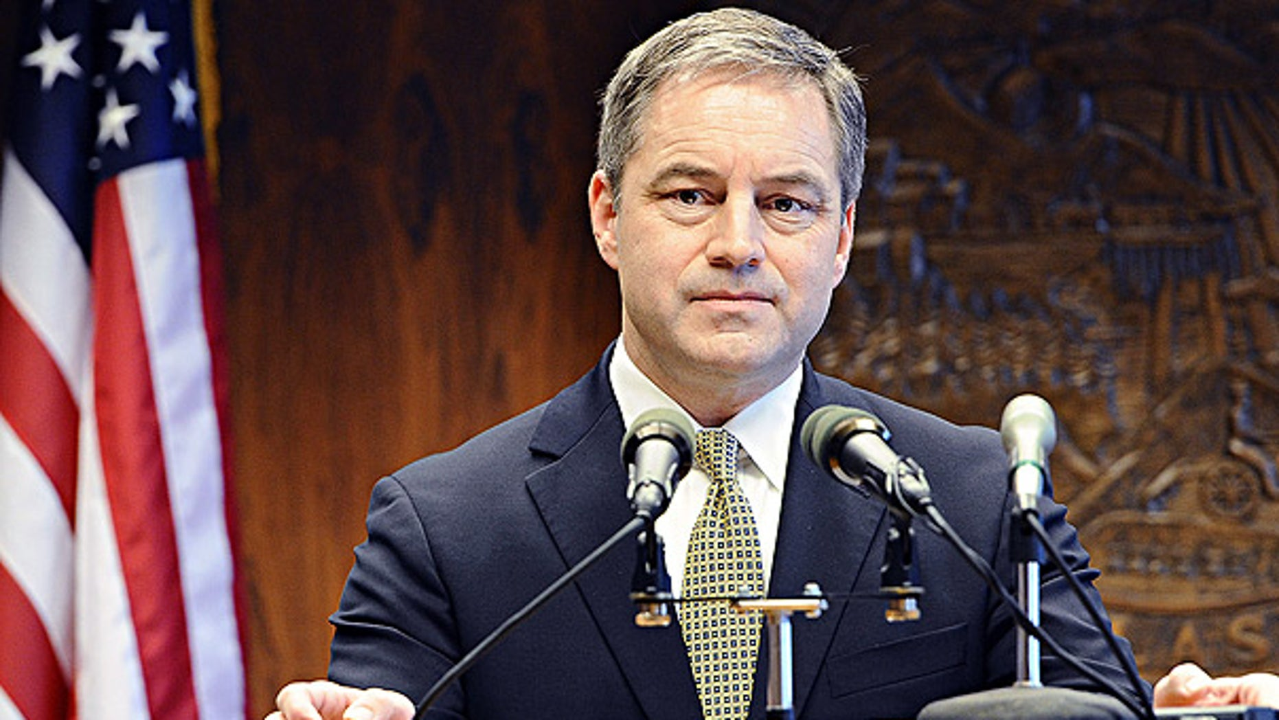Jan. 20: Alaska Governor Sean Parnell during a news conference in Juneau.