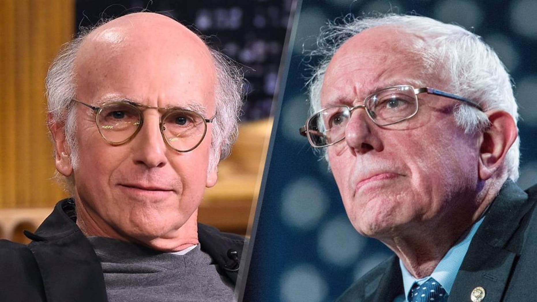 Larry David visits 'The Tonight Show Starring Jimmy Fallon' at Rockefeller Center on June 8, 2015 in New York City. (Photo by Theo Wargo/NBC/Getty Images for 'The Tonight Show Starring Jimmy Fallon') Democratic presidential hopeful Sen. Bernie Sanders (D-VT) speaks at the New Hampshire Democratic Party's 2016 McIntyre Shaheen 100 Club Celebration on February 5, 2016 in Manchester, New Hampshire. The New Hampshire primary is next Tuesday, February 9, 2016. (Photo by Andrew Burton/Getty Images)