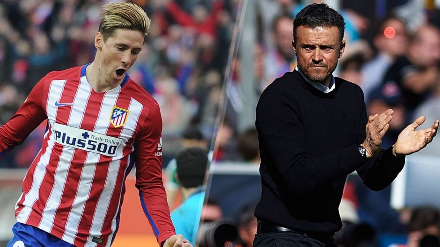 MADRID, SPAIN - FEBRUARY 06: Fernando Torres of Club Atletico de Madrid celebrates after scoring his team's 3rd goal against Asier Riesgo of SD Eibar during the La Liga match between Club Atletico de Madrid and SD Eibar at Vicente Calderon Stadium on February 6, 2016 in Madrid, Spain. (Photo by Denis Doyle/Getty Images) VALENCIA, SPAIN - FEBRUARY 07: FC Barcelona manager Luis Enrique reacts diring the La Liga match between Levante UD and FC Barcelona at Ciutat de Valencia on February 07, 2016 in Valencia, Spain. (Photo by Manuel Queimadelos Alonso/Getty Images)