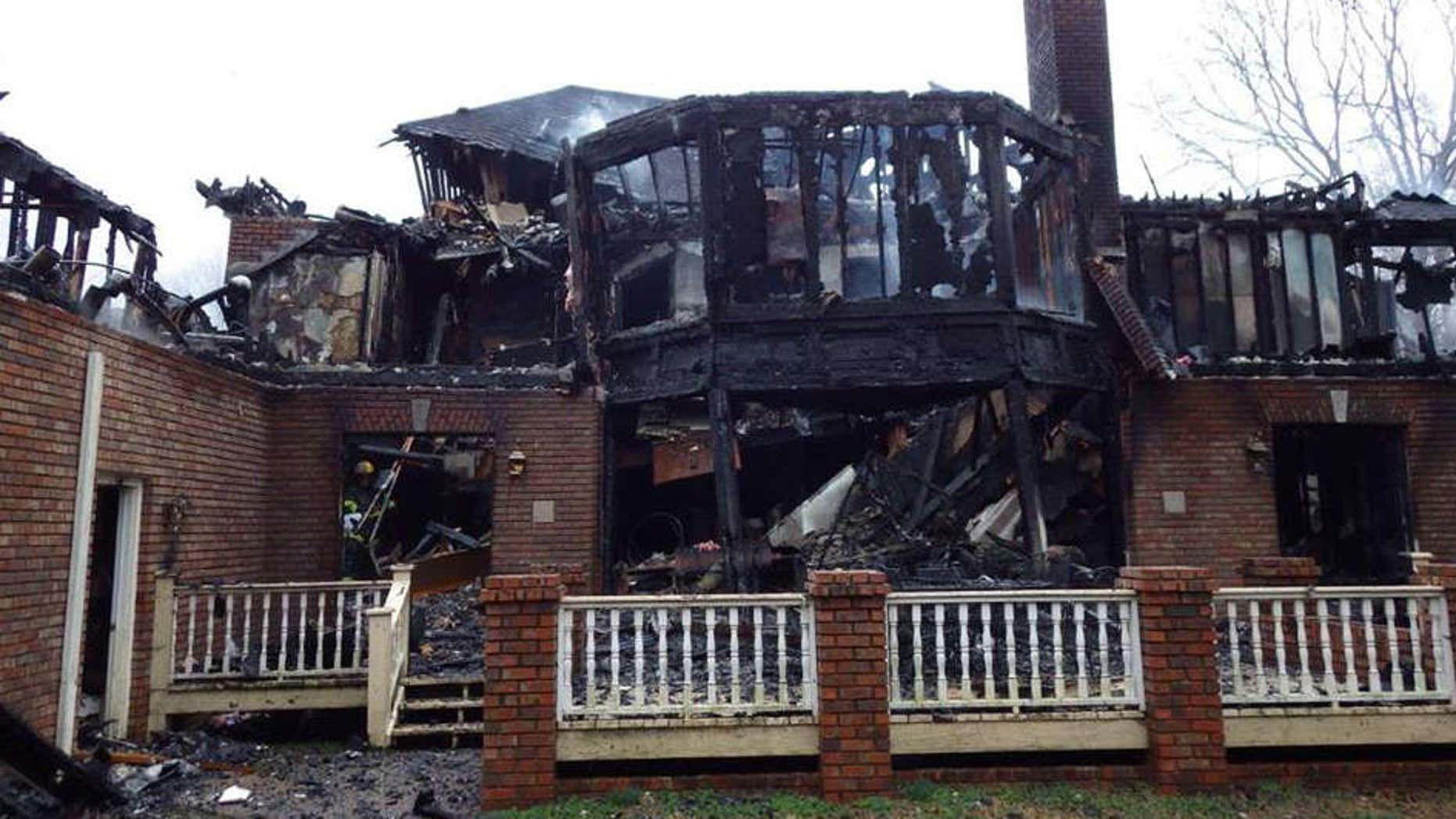 Aftermath of a fire that destroyed a Tennessee home.
