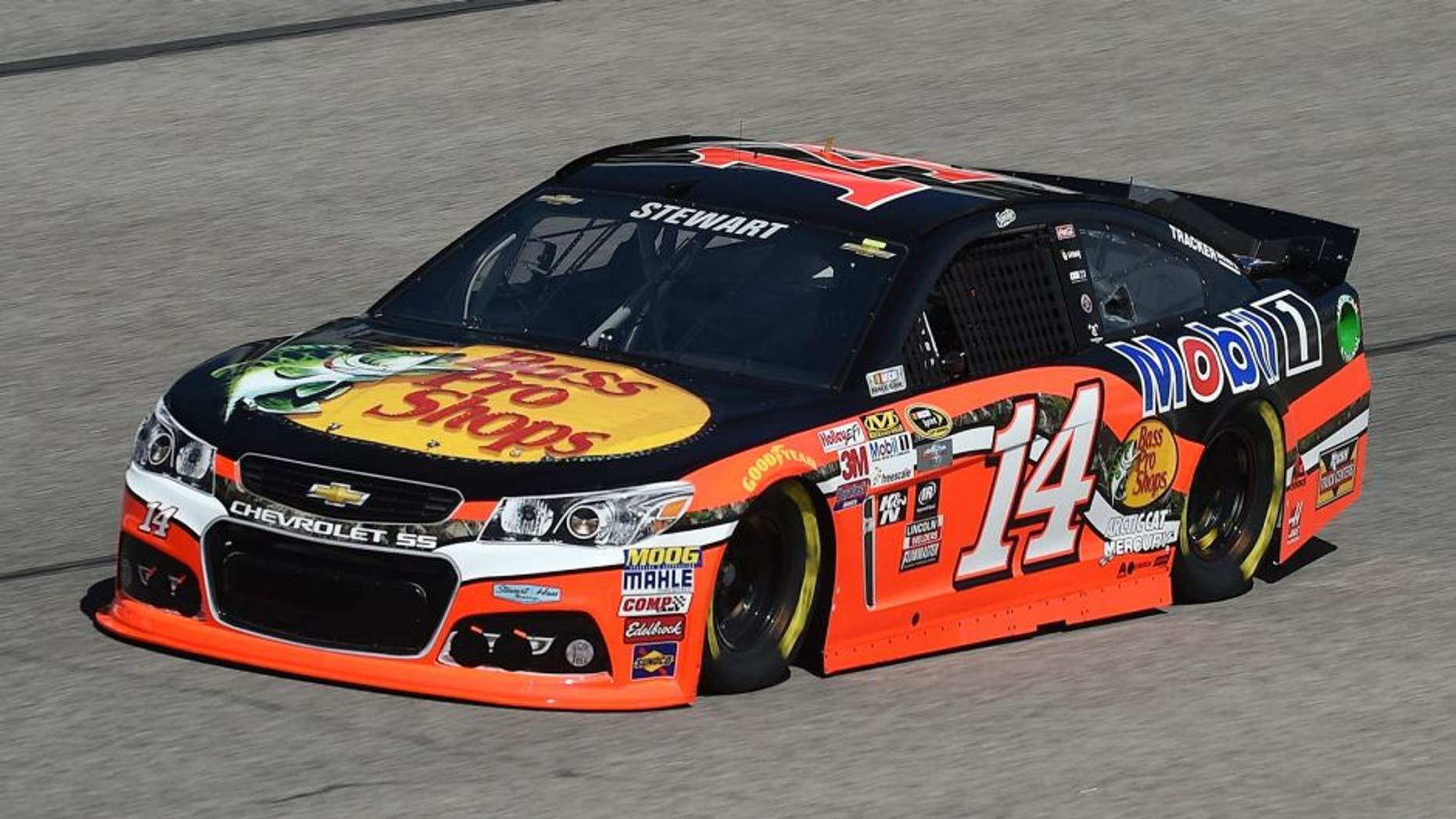 FORT WORTH, TX - NOVEMBER 06: Tony Stewart, driver of the #14 Bass Pro Shops/Mobil 1 Chevrolet, practices for the NASCAR Sprint Cup Series AAA Texas 500 at Texas Motor Speedway on November 6, 2015 in Fort Worth, Texas. (Photo by Rainier Ehrhardt/NASCAR via Getty Images)