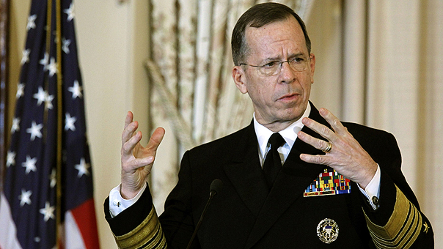 Feb. 2: Joint Chiefs Chairman Adm. Mike Mullen speaks during a luncheon of the Global Chiefs of Mission Conference, where all U.S. ambassadors from around the ground gather simultaneously at the State Department in Washington.
