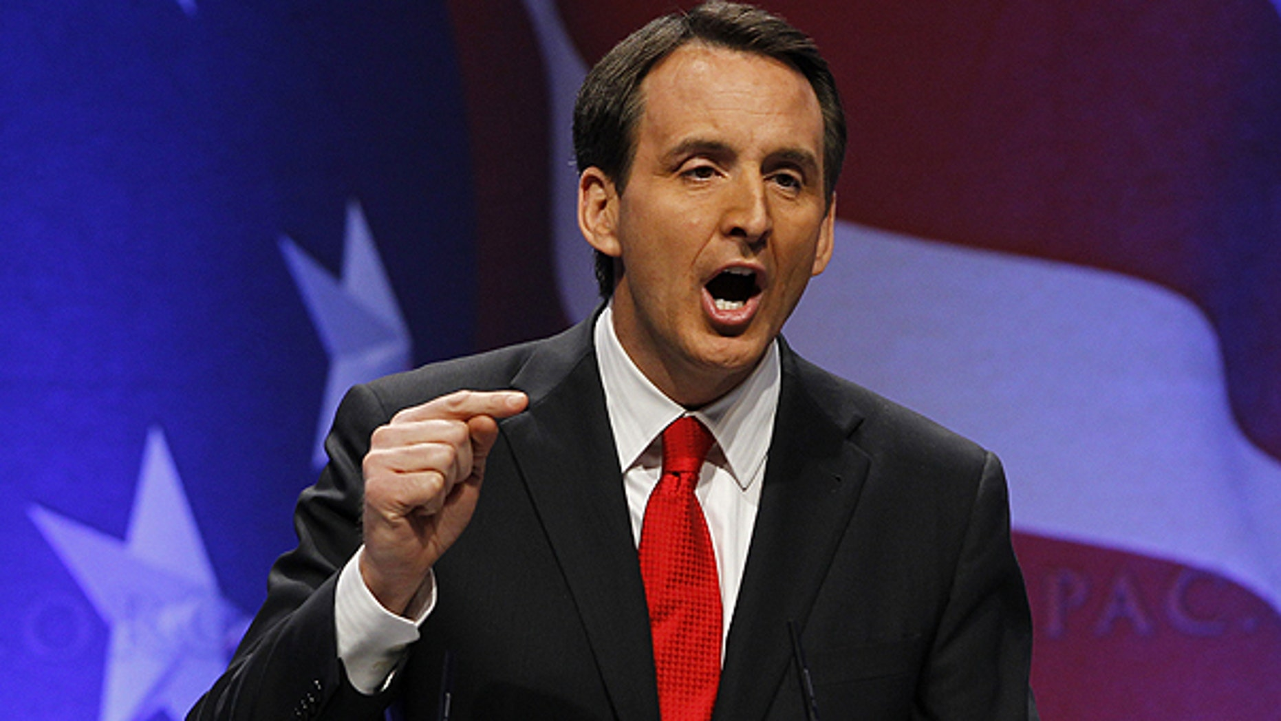 Feb. 11: Former Minnesota Gov. Tim Pawlenty, speaks at the Conservative Political Action Conference (CPAC) in Washington.