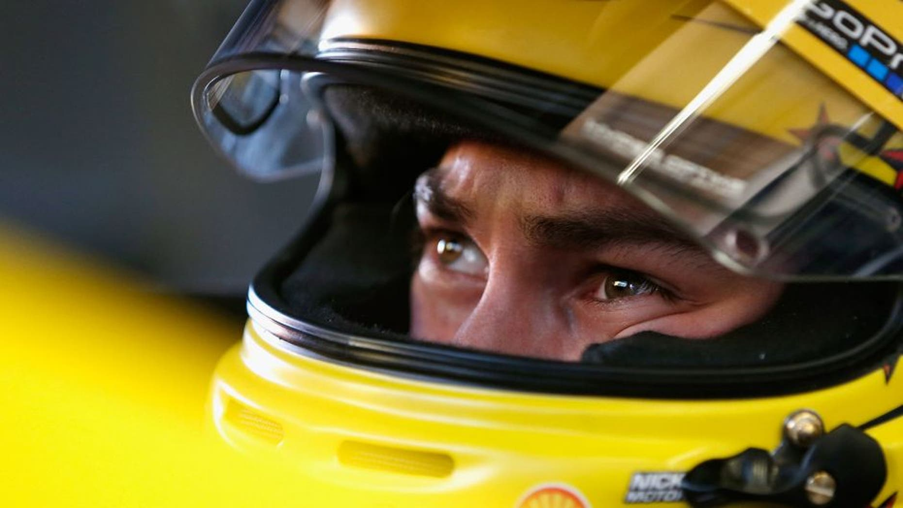 DAYTONA BEACH, FL - FEBRUARY 12: Joey Logano, driver of the #22 Shell Pennzoil Ford, sits in his car during practice for the NASCAR Sprint Cup Series Sprint Unlimited at Daytona International Speedway on February 12, 2016 in Daytona Beach, Florida. (Photo by Brian Lawdermilk/Getty Images)