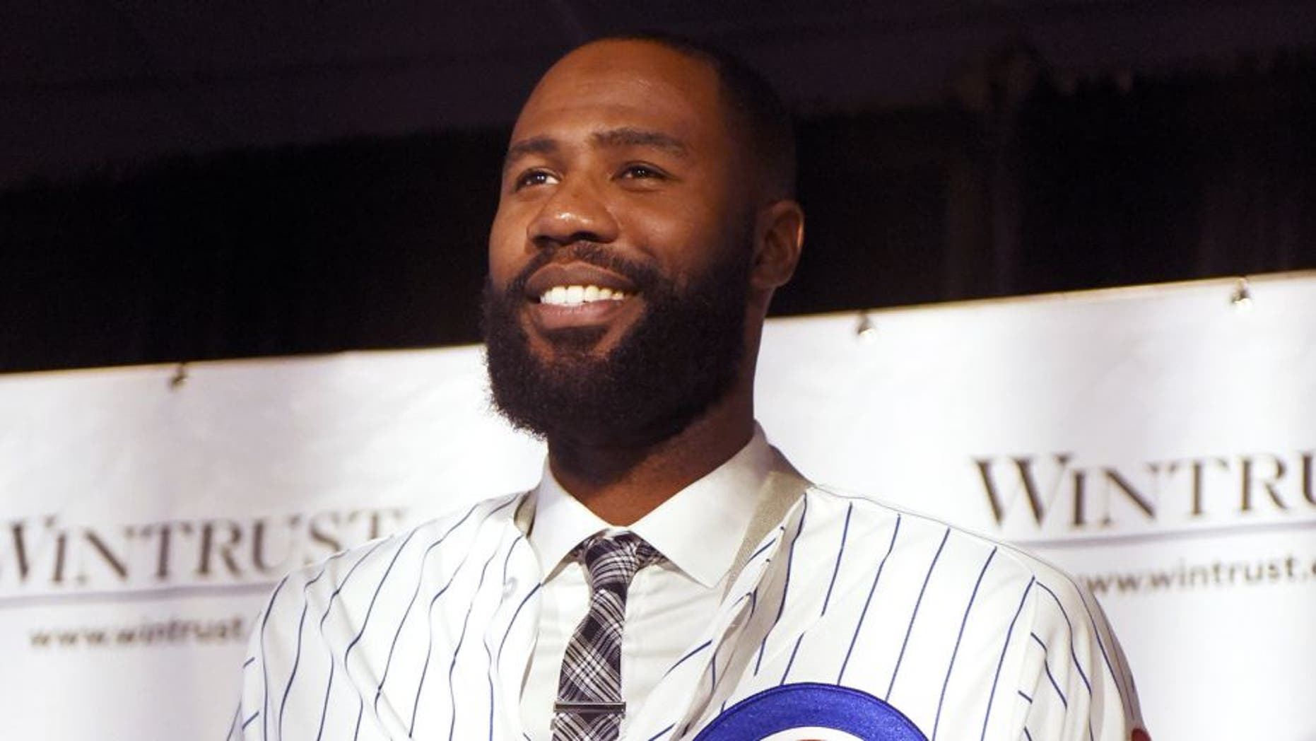 CHICAGO, IL- DECEMBER 15: Jason Heyward during an introduction press conference on December 15, 2015 at Spiaggia Restaurant in Chicago, Illinois. (Photo by David Banks/Getty Images)