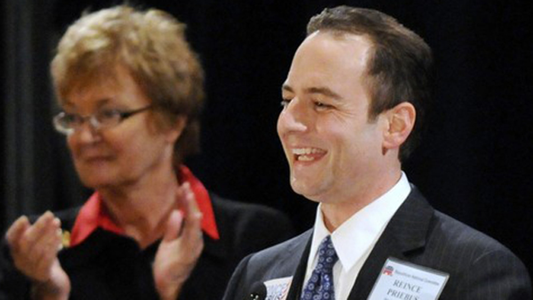Jan. 14: Reince Priebus (R) of Wisconsin smiles as he makes remarks after being elected Republican National Committee chairman at the RNC winter meeting in National Harbor, Md.