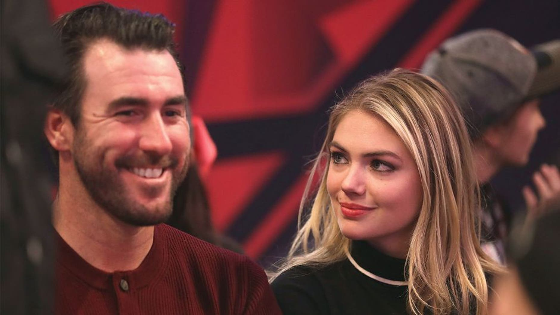 TORONTO, ON- FEBRUARY 14: Justin Verlander and Kate Upton during the 65th NBA All-Star Game at the Air Canada Centre in Toronto. February 14, 2016. (Steve Russell/Toronto Star via Getty Images)