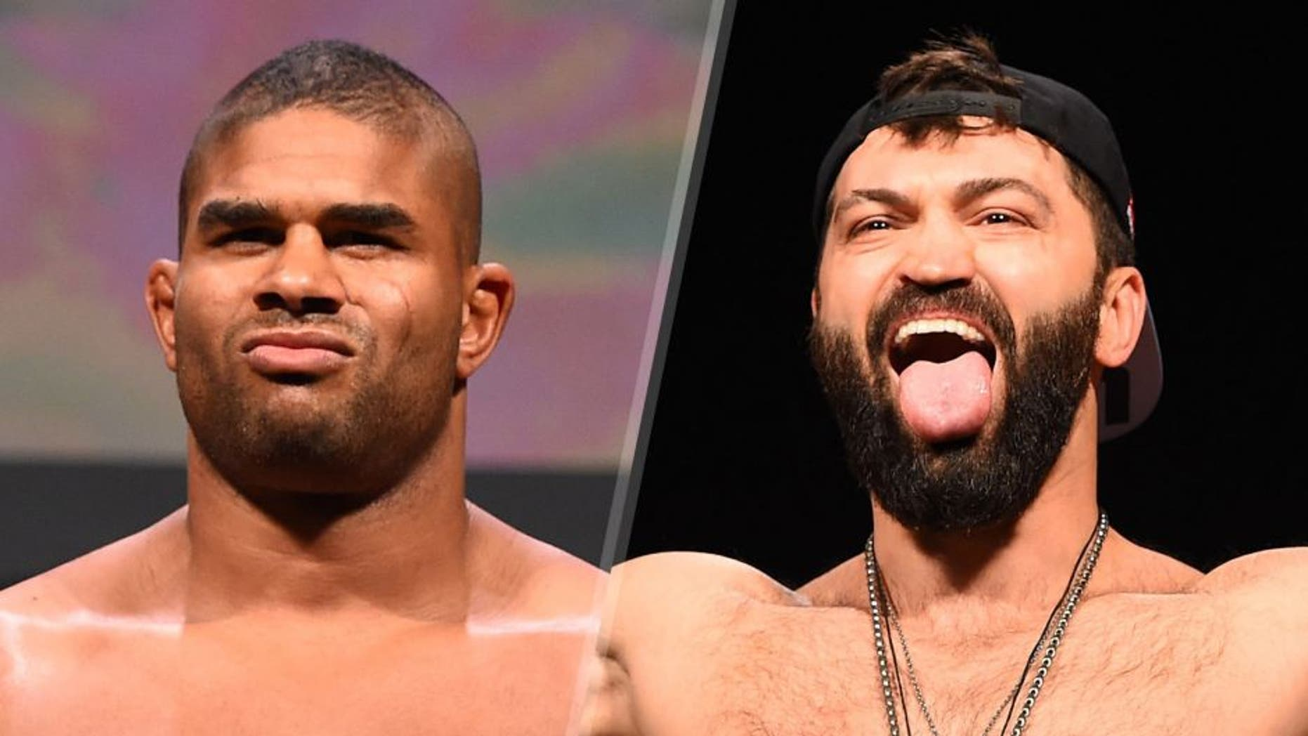 ORLANDO, FL - DECEMBER 18: Alistair Overeem of the Netherlands weighs in during the UFC weigh-in at the Orange County Convention Center on December 18, 2015 in Orlando, Florida. (Photo by Josh Hedges/Zuffa LLC/Zuffa LLC via Getty Images) LAS VEGAS, NV - JANUARY 01: Andrei Arlovski of Belarus weighs in during the UFC 195 weigh-in at the MGM Grand Conference Center on January 1, 2016 in Las Vegas, Nevada. (Photo by Josh Hedges/Zuffa LLC/Zuffa LLC via Getty Images)