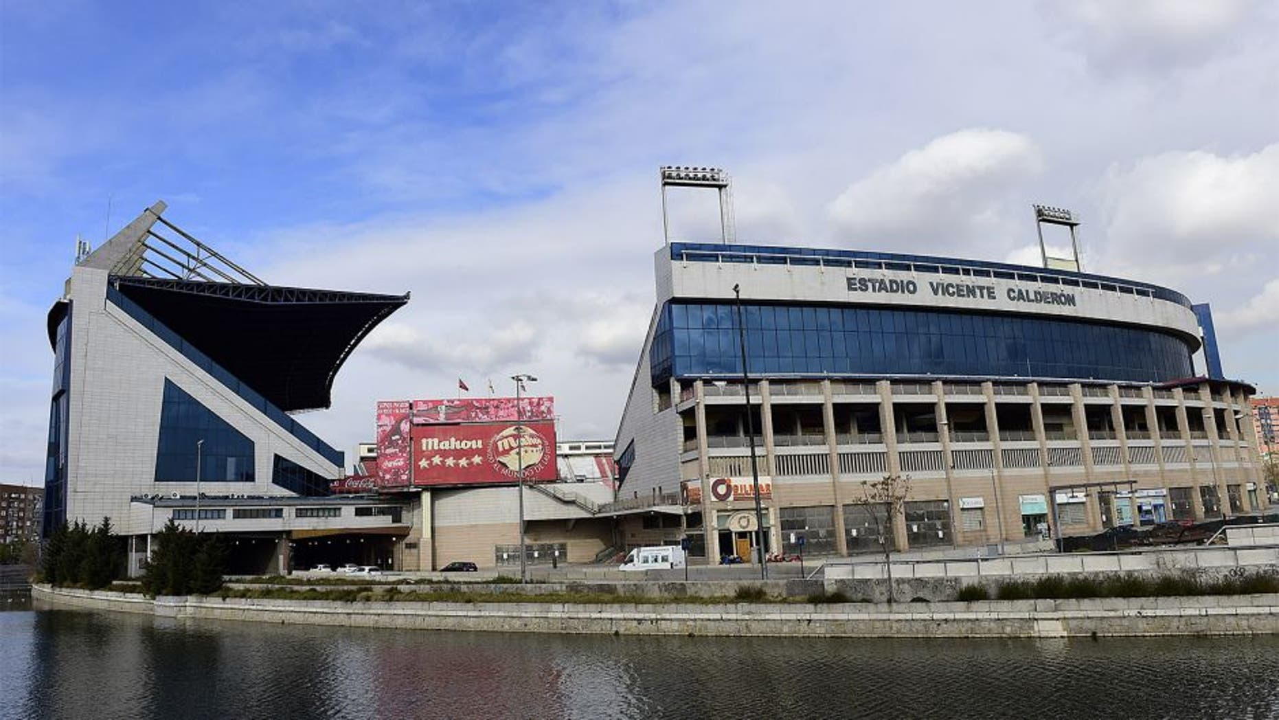 A picture shows a general view of Vicente Calderon stadium on the banks of the Manzanares river, in Madrid on January 20, 2015. Chinese billionaire Wang Jianlin plans to buy a 20-percent stake in Spanish league champions Atletico Madrid, media reported on January 19, 2015. AFP PHOTO/ JAVIER SORIANO (Photo credit should read JAVIER SORIANO/AFP/Getty Images)