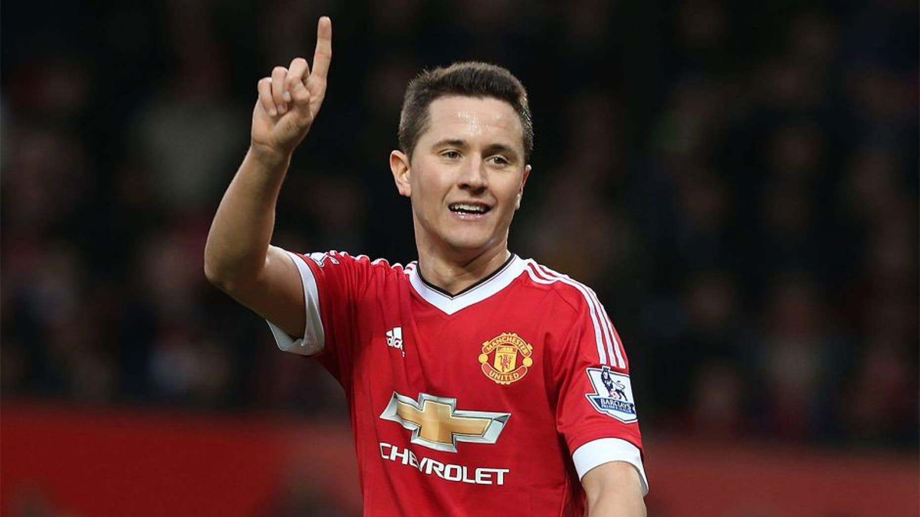 MANCHESTER, ENGLAND - JANUARY 23: Ander Herrera of Manchester United shows his disagreement with a refereeing decision during the Barclays Premier League match between Manchester United and Southampton at Old Trafford on January 23, 2016 in Manchester, England. (Photo by Matthew Peters/Man Utd via Getty Images)