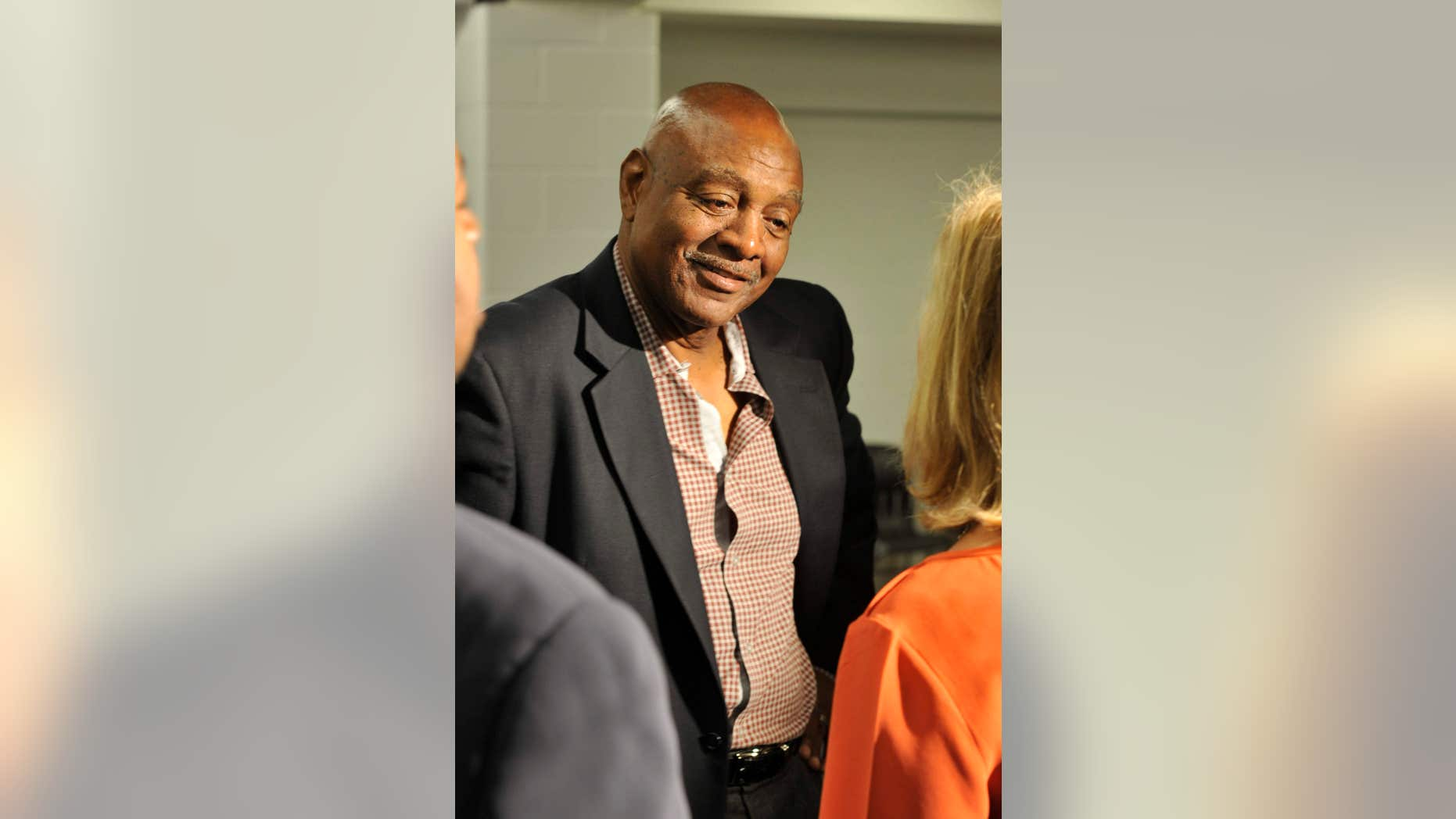 FILE_This Wednesday, May 29, 2013, file photo shows former NFL player Reggie Rucker after a news conference for Hall of Fame running back Jim Brown, in Cleveland.