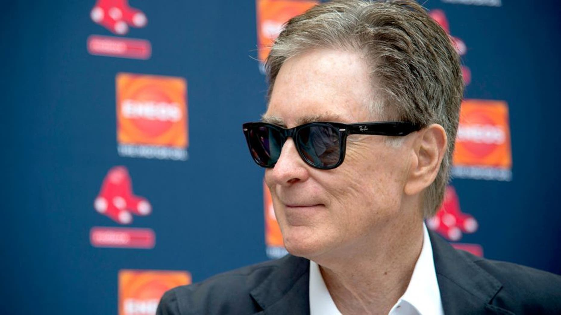 FT. MYERS, FL - FEBRUARY 24: Boston Red Sox Principal Owner John Henry speaks with media following the teams first full team workout on February 24, 2016 at Fenway South in Fort Myers, Florida . (Photo by Michael Ivins/Boston Red Sox/Getty Images)