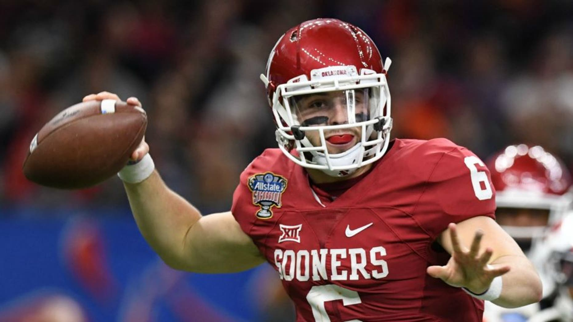 51c87c2b1 Oklahoma Sooners QB Baker Mayfield was arrested early Saturday in Arkansas  on charges of public intoxication