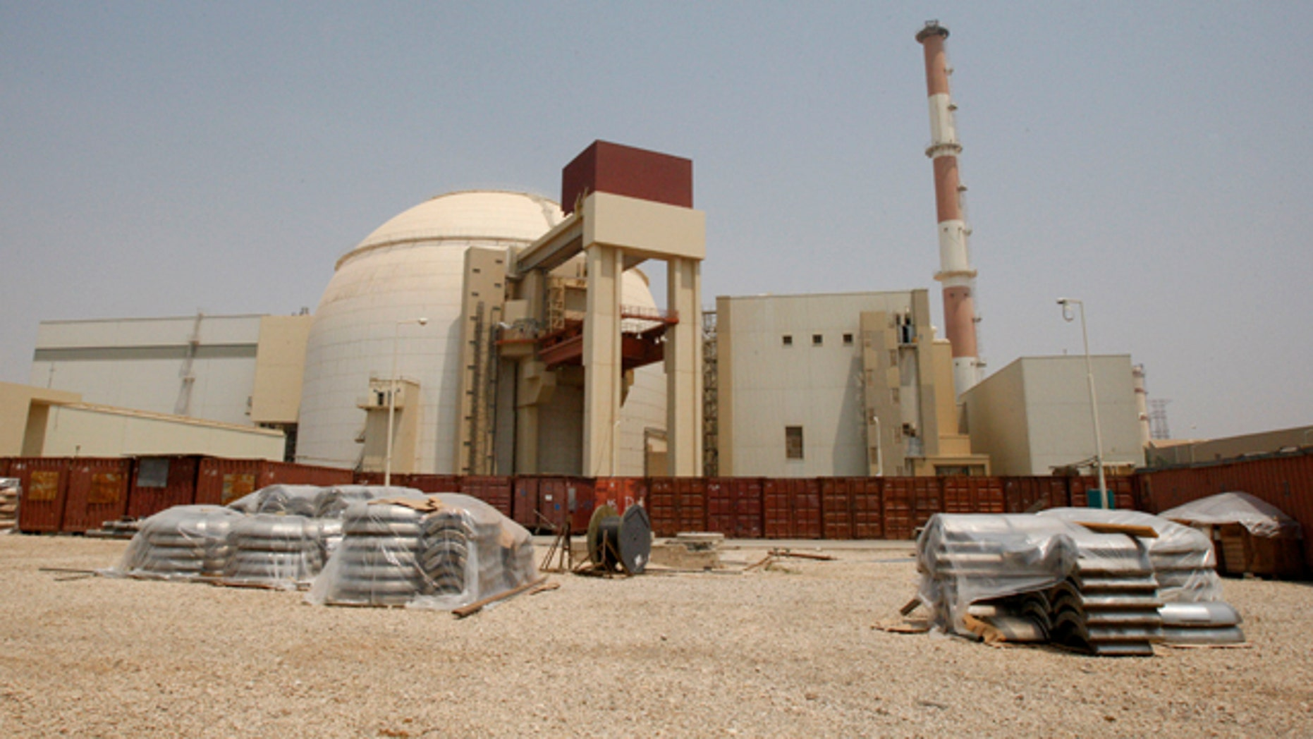 In this Saturday, Aug. 21, 2010, file photo, the reactor building of the Bushehr nuclear power plant is seen, outside the southern city of Bushehr, Iran.