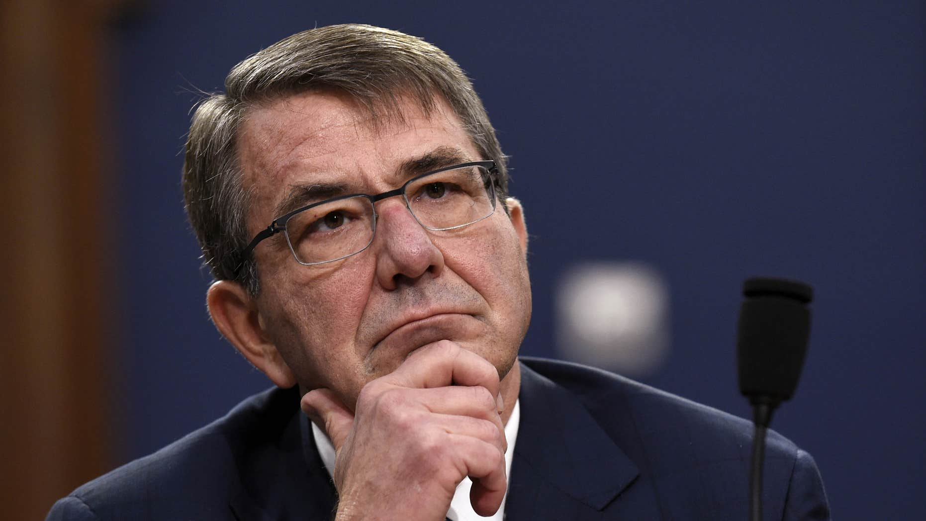 Feb. 25, 2016: Defense Secretary Ash Carter testifies before the House Appropriations subcommittee on the president's 2017 budget during a hearing on Capitol Hill in Washington.