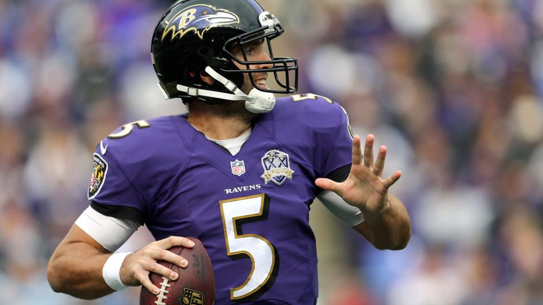 sports shoes 2bca4 458b5 Joe Flacco agrees to a three-year extension with the Ravens ...