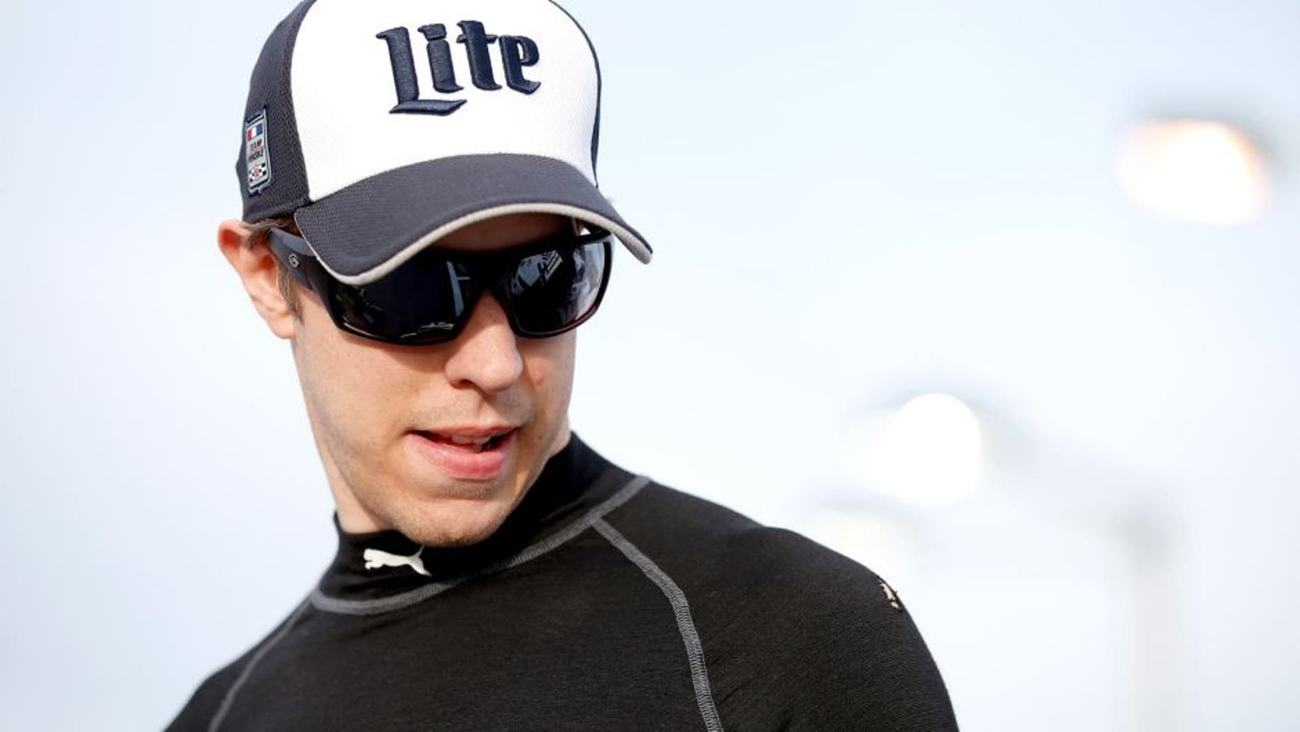LAS VEGAS, NV - MARCH 04: Brad Keselowski, driver of the #2 Miller Lite Ford, stands on pit row during qualifying for the NASCAR Sprint Cup Series Kobalt 400 at Las Vegas Motor Speedway on March 4, 2016 in Las Vegas, Nevada. (Photo by Todd Warshaw/Getty Images)