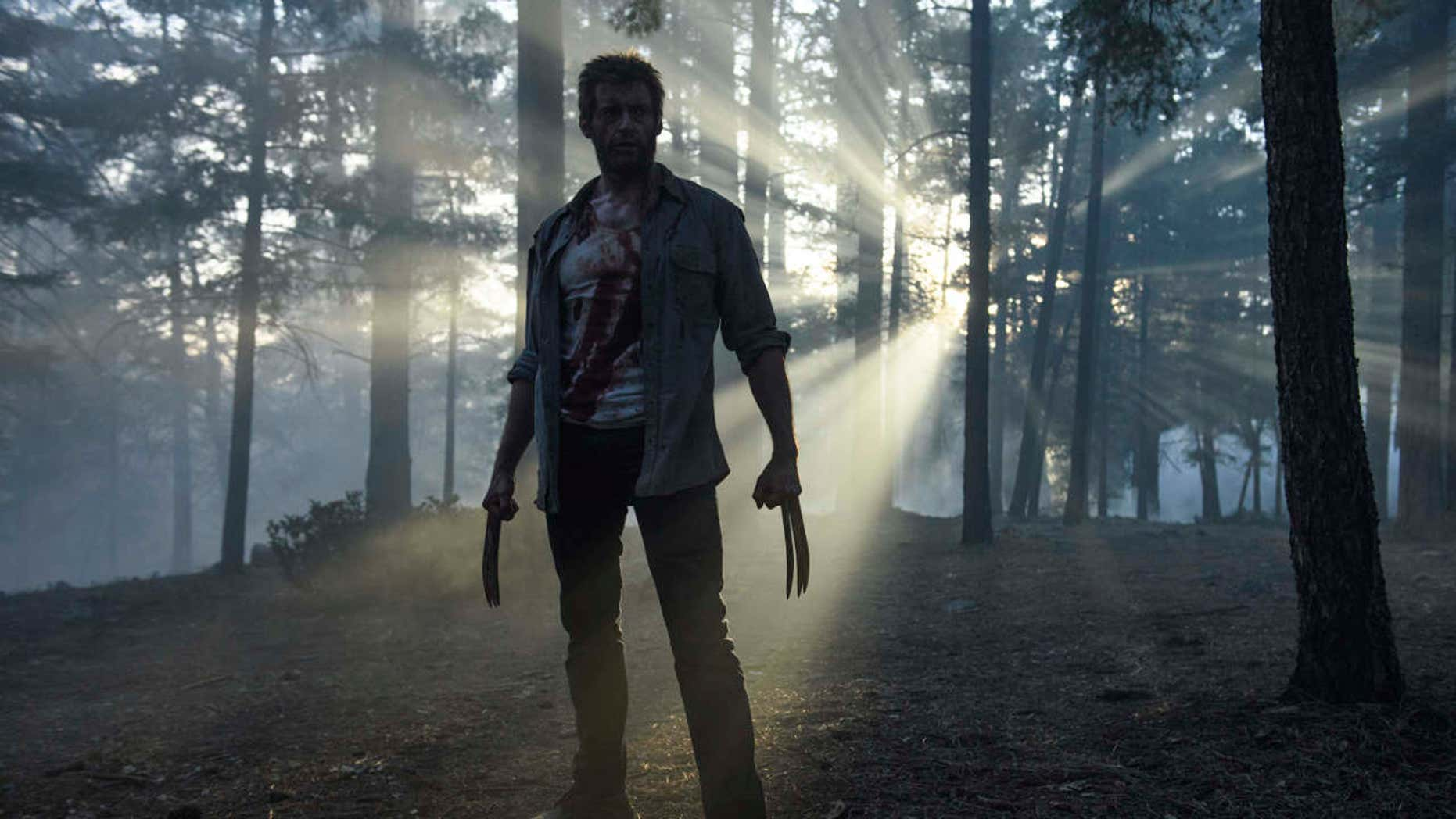 """This image released by Twentieth Century Fox shows Hugh Jackman from the film, """"Logan."""""""