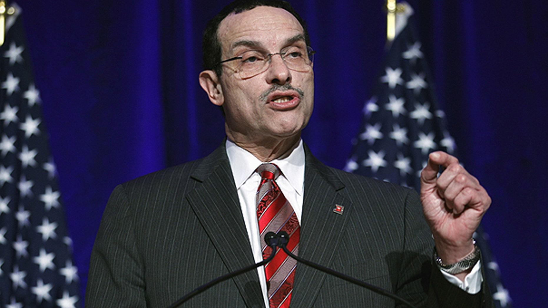 Feb. 26: Washington Mayor Vincent Gray addresses the Democratic National Committee winter meeting in Washington.