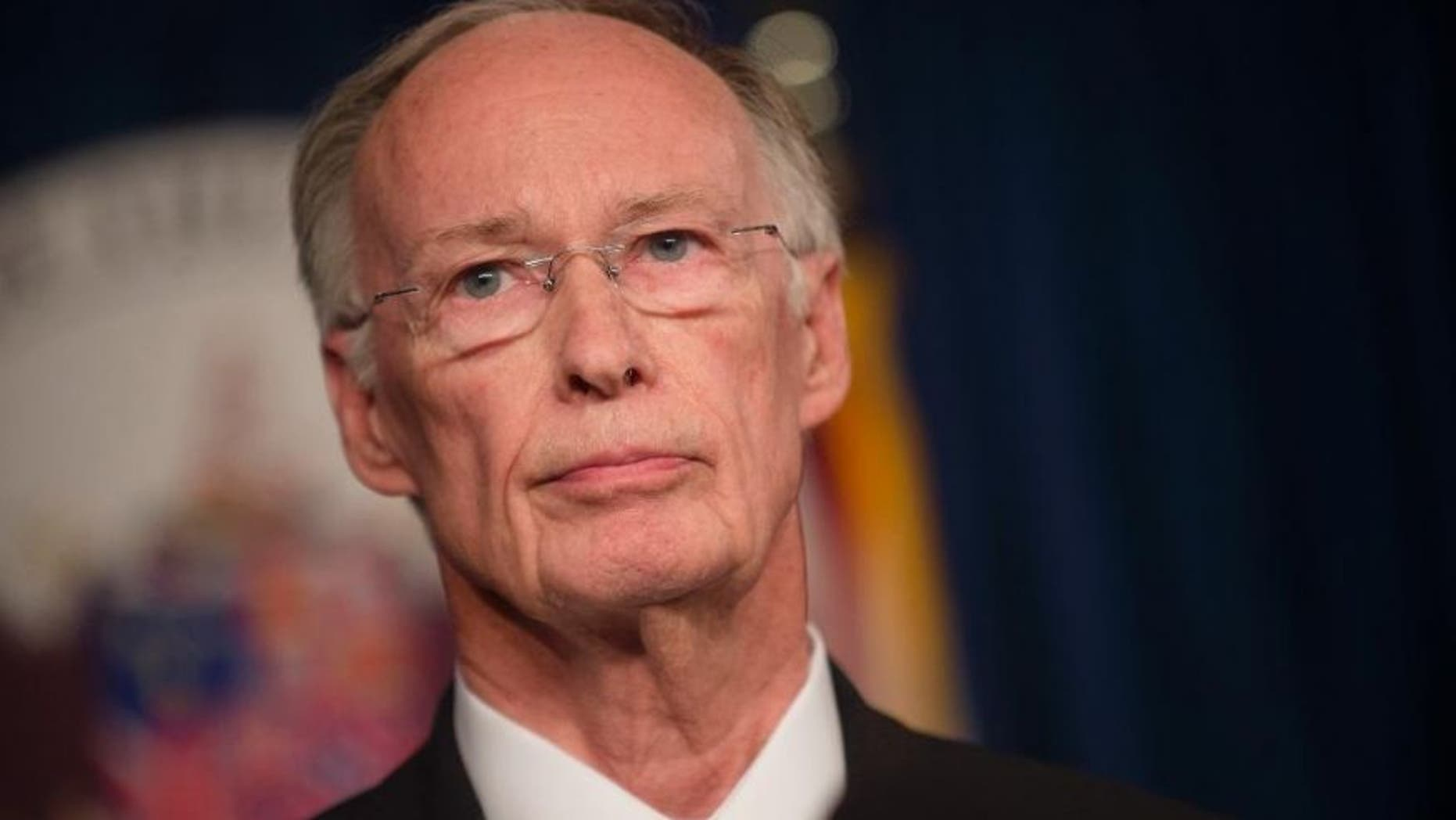 Alabama Gov. Robert Bentley stands during a news conference Wednesday, March 23, 2016, at the state Capitol in Montgomery, Ala.