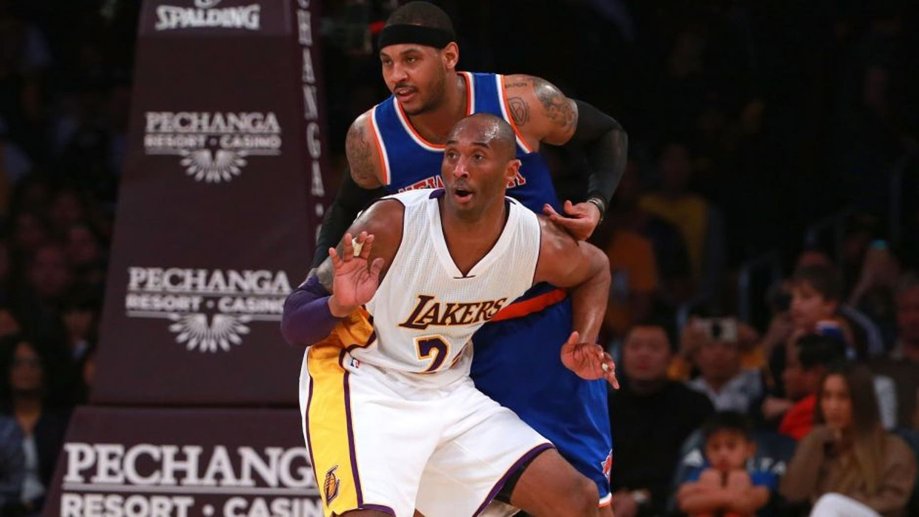 during the NBA game at Staples Center on March 13, 2016 in Los Angeles, California. NOTE TO USER: User expressly acknowledges and agrees that, by downloading and or using this photograph, User is consenting to the terms and conditions of the Getty Images License Agreement.