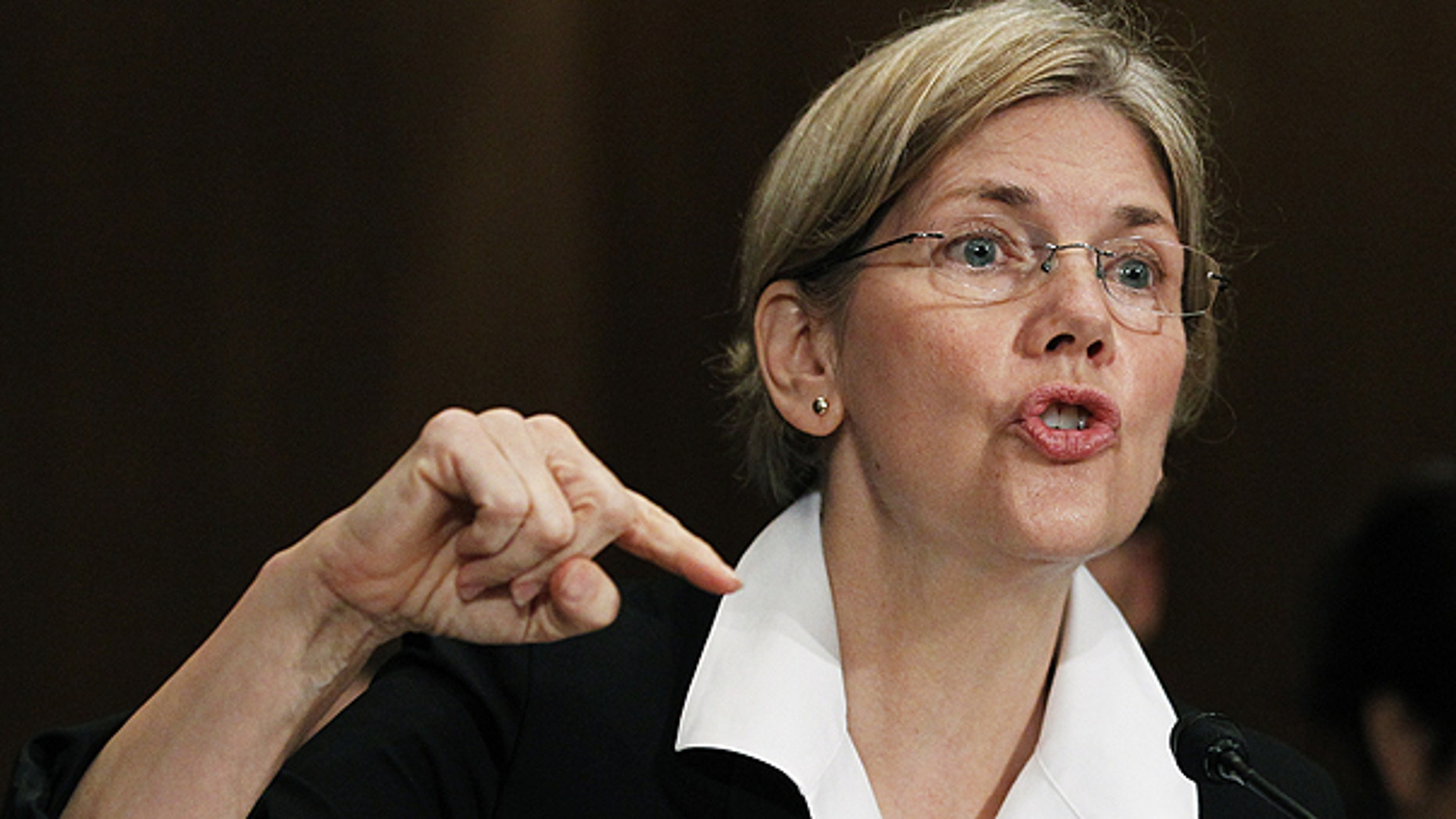 FILE: Republicans have said they want to prevent President Obama from recess appointing Elizabeth Warren, seen here at a Senate Finance Committee hearing in July 2010, to head the Consumer Financial Protection Bureau.